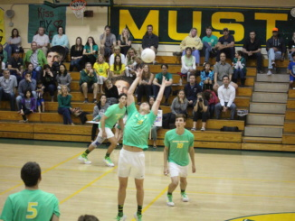 Last year's Costa boys volleyball team competed in a home game. The volleyball team and many other teams helped Costa achieve the Cal High award.