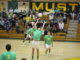 Senior Jack Wilmer returns the serve over the net. The Mira Costa Mustangs defeated Redondo and Palos Verdes on Sunday.