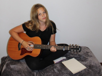 Sophomore Jamie Jarvis spending her free time pursuing her passion for music and performance.