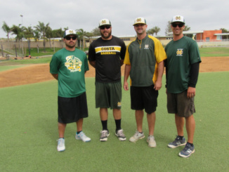 New coaches Andre Van Gerwen (left) and Keith Ramsey (right) join the Costa Baseball coaching staff.