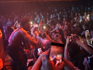 The crowd started to lose control, as Ugly God got ready to jump into the crowd.