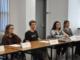 Student Representatives Alyssa Castruonovo, Duke Mahr, Jamie Hoffman, and Katie Tominaga listen in on the Stress and Wellness Meeting.