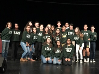 The Latino Scholars Union poses for a shot after the Hispanic Heritage Assembly, courtesy of Andrea Salceda. They put together and hosted Costa's first Hispanic Heritage Assembly, inviting dancers, musicians, and storytellers to share their Hispanic roots on stage.
