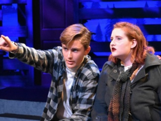 """Noah Geller and Lilly Fuller perform in their scene, """"Where It Went"""" Theirs was the final scene of Act I of """"Almost, Maine."""" Courtesy of Sene Gray."""