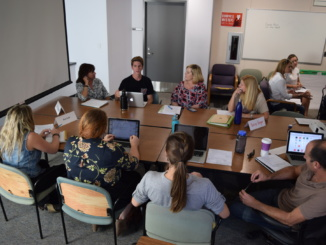 Mira Costa's Social and Emotional Wellness Committee held its meeting in the Costa office conference room. The committee consists of students, staff members, teachers and parents.