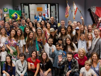 MBUSD families and students celebrate MBUSD's first International Day. Manhattan Beach residents came together and showcased their cultures and experiences. (Reproduced with the permission of MBUSD Facebook)