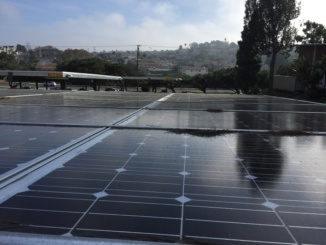 Costa implemented a new collection of solar panels in order to begin to use cleaner sources of energy. Pictured are the ones installed above the student parking lot.