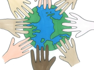 This image was illustrated by senior Raushan Melton. It shows the earth being shared by a multitude of different ethnicities and was featured on La Vista's Social Inclusion theme page.