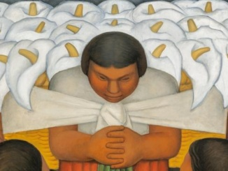 """Diego Rivera's artwork on display at the Picasso-Rivera exhibit is pictured above. The painting was one of Rivera's most famous pieces entitled """"Flower Day."""" Courtesy of LA Times."""