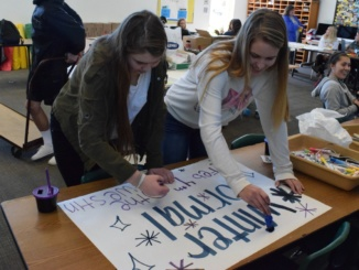 "ASB members make posters for this year's Winter Formal. ASB hosted the dance at the Westin Los Angeles Hotel on Feb. 4 with the theme, ""City of Stars."""