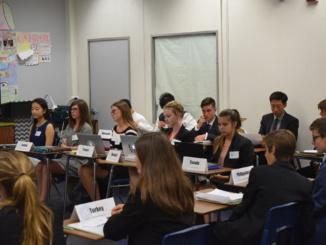 Mira Costa students compete in a Model united Nations conference at the University of Pennsylvania on January 21st. The students were scored based on their abilities to debate on topics regarding the UN.