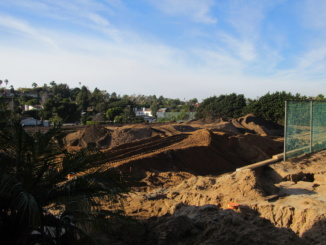 Costa's Meadows field is currently under reconstruction to build a new turf field. Construction started on Nov. 17.