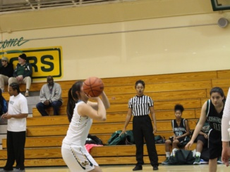 Senior Halle Maeda shoots the ball in Mira Costa's win over Inglewood.