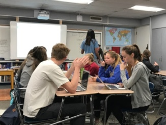 Students take the Stanford Survey of Adolescent Experiences survey during English periods. The survey contained 70 questions and took approximately 30 minutes.