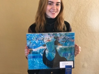 Sophomore Renee Boettner won first place for her painting at the Neptunian Woman's Art Show. The awards ceremony was on February 26 at the Neptunian Woman's Club in downtown Manhattan Beach.