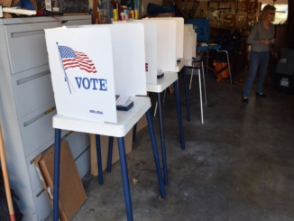 Manhattan Beach held its City Council elections on March 7. This resident opened his garage to voters on election day.