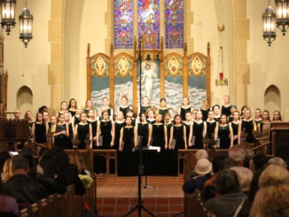 The Mira Costa Advanced Women's Chorale sings at the Cathedral Concert on March 21st in Hermosa Beach. The concert was a place for the community to come together and enjoys the choirs songs.