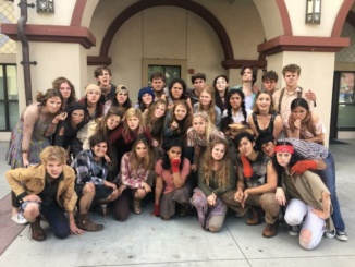 """The Drama and Tech Department places second for its performance of the musical, """"Urinetown"""" at the Fullerton Theatre Festival. Drama and Tech won multiple awards at the festival on Friday and Saturday, including the Sweepstakes Award. (Reproduced with the permission of Jenna Billingsley)"""