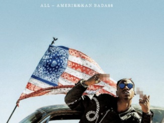 "Courtesy of the Boombox. Joey Bada$$ releases this album cover for ""All-Amerikkkan Bada$$"" on April 14 in Brooklyn, New York. This is his second studio album following three famous mixtapes."
