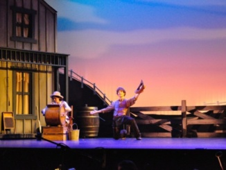 Actress Sabrina Harris(left) and actor Robert Diehl(right) perform in Costa's Drama/Tech Department's spring production of Rodgers and Hammerstein musical, Oklahoma, playing April 21st-29th. Discount pre-sale tickets for Oklahoma were available online until 12:00 pm April 21st.