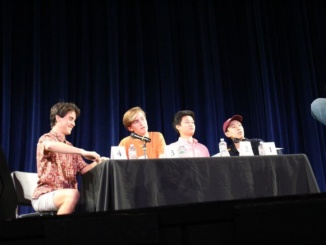 three-Year Throne:  (From left) Juniors Tommy Kelleher, Noah Geller,  sophomore Kevin Chen and  junior Peter Lu answer questions during the annual Scholar Quiz on April 5 in the auditorium. The quartet, with the exception of Chen, has participated in Scholar Quiz together since their freshman year  at Mira Costa.