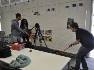 Senior Kiera Richards acts as director for her short film. The film will be released at Costa's film festival in June.