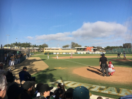 The Mira Costa varsity baseball team faces off against Redondo Union High School in their final game of the regular season at 4 PM on Thursday. The Mustangs defeated the Seahawks 7-2 to claim the title of Bay League Champions.