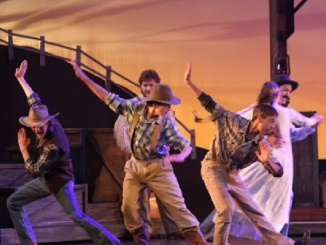 Mira Costa freshman Cole Konis acts in the spring production of Oklahoma! last spring. He was also casted in award-winning film, American Sniper. Photo credit to Cole Konis