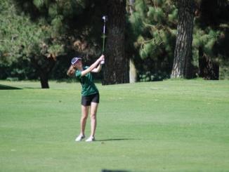 Senior Phoebe Gunn hits a  drive on the fairway. The Mira Costa Girls Golf team fell to Torrance High School, 218-219, at Chester Washington Golf Course on August 29.