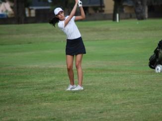 Junior Angelica Bigler hits an approach shot. Mira Costa Girls Golf team fell to Palos Verdes by a score of 196-209 on Tuesday.