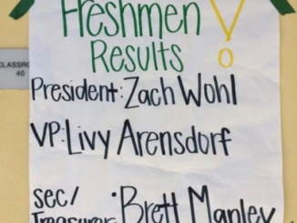 The results from the freshman ASB elections were posted outside of Ms. Claypoole's room after fifth period. The freshman were eligible to run for many positions but they could only be elected for one.