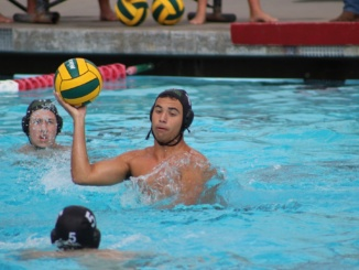 (Middle) Junior attacker River Benyair prepres to pass the ball. The Mira Costa Mustangs defeated Peninsula 5-3 on Wednesday.