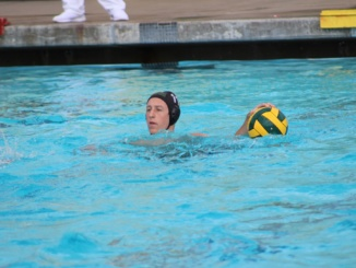 Senior attacker Holden Brown prepares to shoot at the Redondo goal. The Mira Costa Mustangs defeated Redondo 12-5 on Thursday.