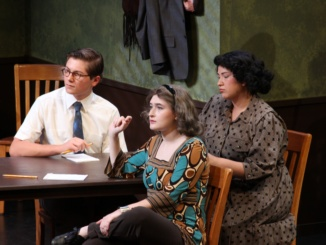 "Mira Costa's Drama and Tech Department perform their fall play, ""Twelve Angry Jurors"". This was their first play of the year and their next pay will be in November. (Photo courtesy of Sarah Toomey)"