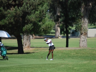 Sophomore Shani Waite, tees off in Costa's CIF Team Championship Tournament. On Oct. 10 at Los Robles Greens Golf Course, Costa participated in the CIF Team Championship Tournament.