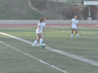 In a game last year, Nicole Westbrook dribbles the ball. On Dec. 6 Costa swept Torrance 5-0.