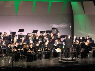 The Mira Costa band performs their annual winter concert on December 8th. The show featured many holiday carols and songs. (Linnae Wee/ La Vista)