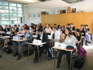 The Mira Costa Model United Nations program hosts their annual LAIMUN conference at Costa. They debated on topics regarding the UN.