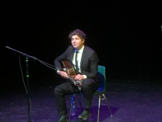 English classical guitarist Felix Kellaway performed eight songs at the benefit concert on Dec. 9 to honor the memory of former MBMS teacher Sandra Casey, who tragically passed away. (Photo courtesy of Donn Ennis).