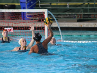 Camille Lyter takes a shot against El Segundo in Costa's first home game of the season.