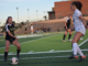 (Left) Junior Kayla Brunick dribbles through a defender. The Mira Costa girls soccer team defeated South Torrance, 2-1, at South Torrance High School.
